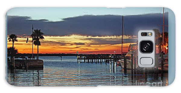 Sunset At Marina Plaza Dunedin Florida Galaxy Case