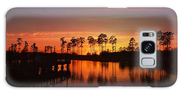 Sunset At Market Commons II Galaxy Case by Kathy Baccari