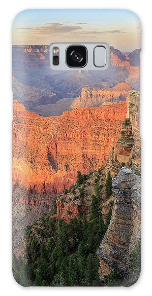 Sunset At Mather Point Galaxy Case