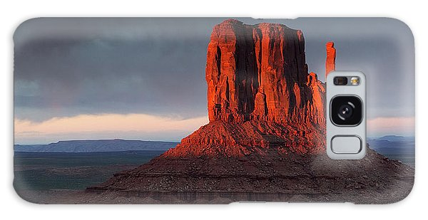 Sunset At Monument Valley Galaxy Case