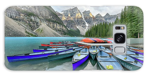 Sunset At Moraine Lake Galaxy Case