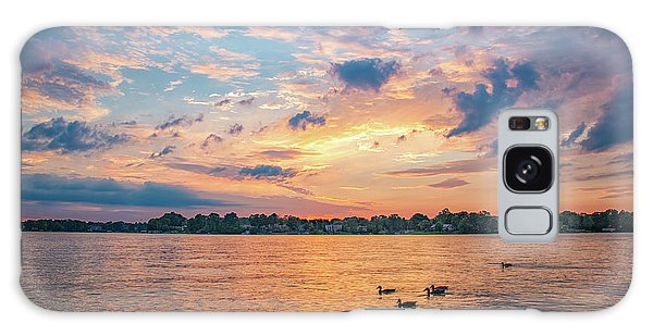 Sunset At Morse Lake Galaxy Case