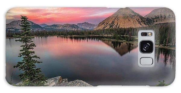 Sunset At Notch Lake Galaxy Case