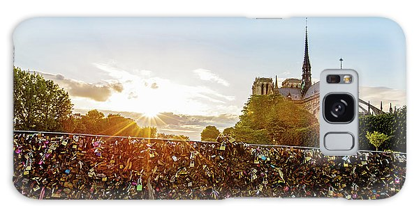 Sunset At Notre Dame De Paris Galaxy Case