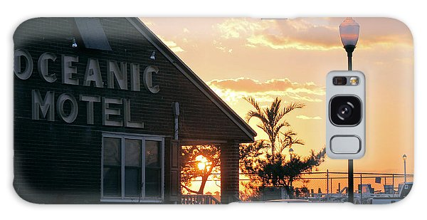 Sunset At Oceanic Motel Galaxy Case