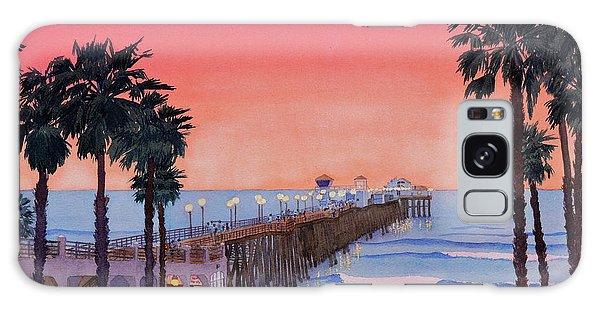 Sunset At Oceanside Pier Galaxy Case