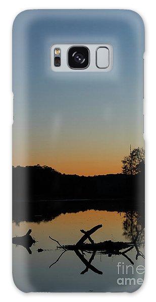 Sunset At Paulinskill Lake Galaxy Case by Nicki McManus