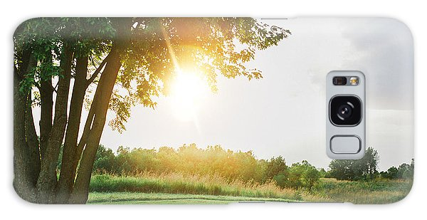 Sunset At Pearman Forest Galaxy Case