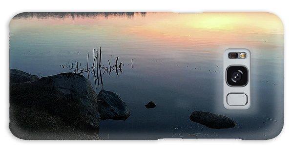 Sunset At Pentwater Lake Galaxy Case