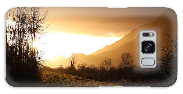 Sunset At Pitt Lake Dyke Galaxy Case