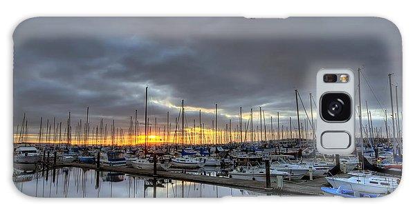 Sunset At Port Gardner Galaxy Case
