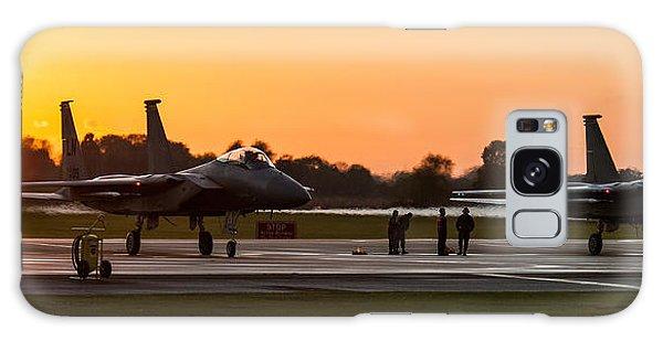 Sunset At Raf Lakenheath Galaxy Case by Tim Beach