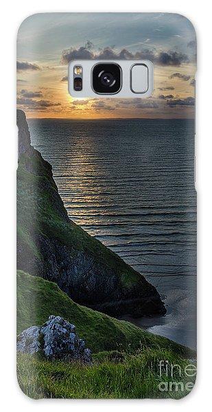 Sunset At Rhossili Bay Galaxy Case