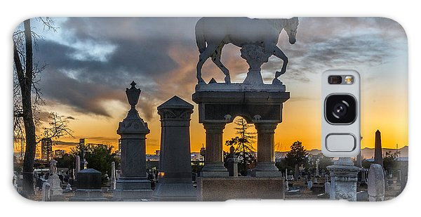 Sunset At Riverside Cemetery Galaxy Case