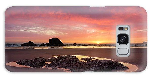 Sunset At Ruby Beach Galaxy Case