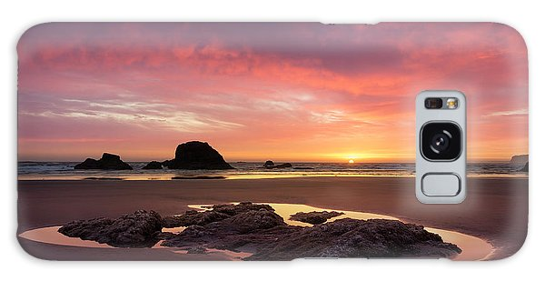 Sunset At Ruby Beach Galaxy Case