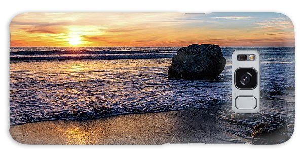 Sunset At San Simeon Beach Galaxy Case