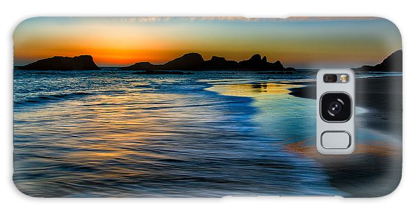 Sunset At Seal Rock Oregon Galaxy Case