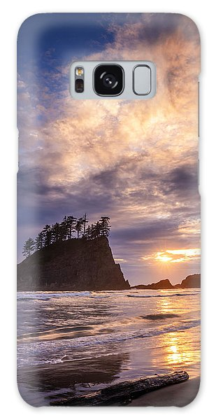 Sunset At Second Beach Galaxy Case by Dan Mihai