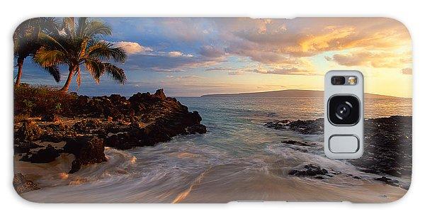 Sunset At Secret Beach Galaxy Case