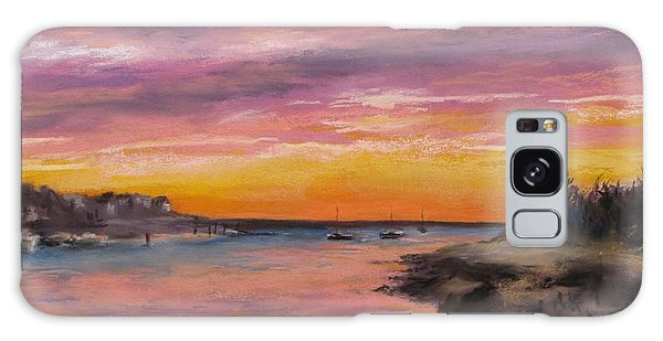 Sunset At Sesuit Harbor Galaxy Case by Jack Skinner