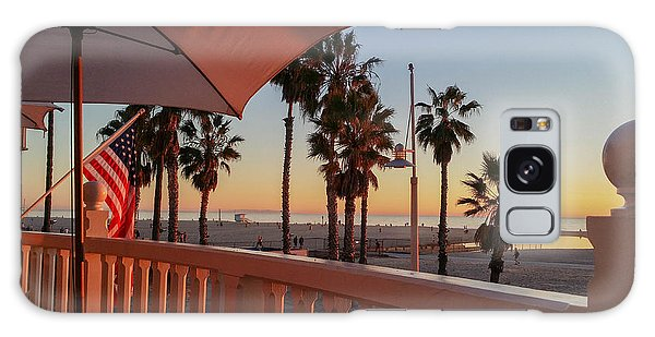 Sunset At Shutters Galaxy Case by Mark Barclay