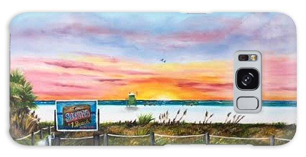 Sunset At Siesta Key Public Beach Galaxy Case