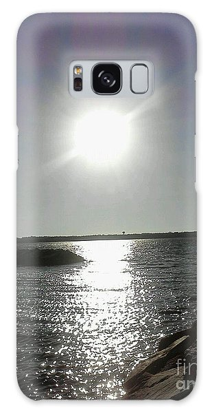 Sunset At Solomons Island Md Galaxy Case