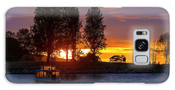 Sunset At Sunset Beach In Vancouver Bc Galaxy Case