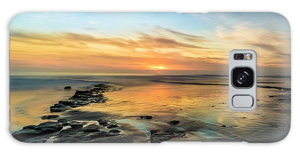 Ocean Sunset Galaxy S8 Case - Sunset At Swamis Beach by Larry Marshall