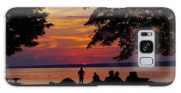 Sunset At Sylvan Beach Galaxy Case