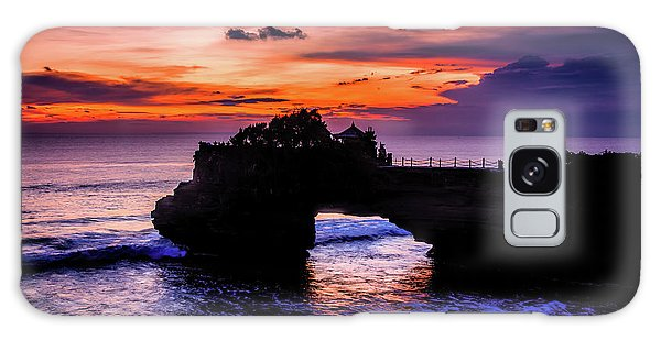 Sunset At Tanah Lot Galaxy Case