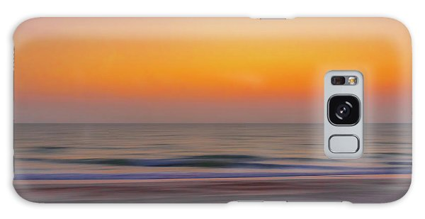 Sunset At The Beach Galaxy Case
