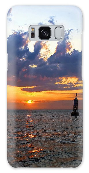 Sunset At The Bell Buoy Galaxy Case
