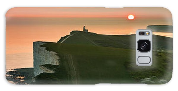 Sunset At The Belle Tout Lighthouse Galaxy Case