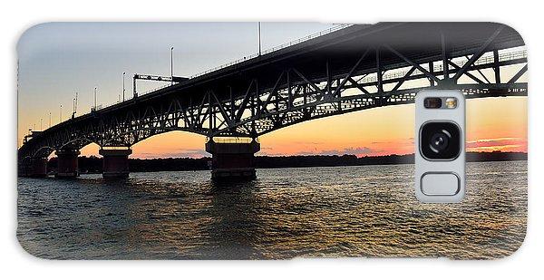 Sunset At The Coleman Bridge Galaxy Case