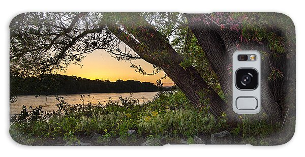 Sunset At The Confluence Galaxy Case by Garry McMichael