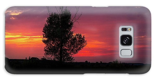 Sunset At The Danube Banks Galaxy Case