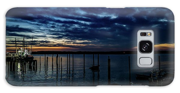 Sunset At The Dock Galaxy Case