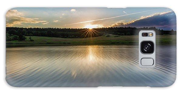 Sunset At The Mandelholz Dam, Harz Galaxy Case