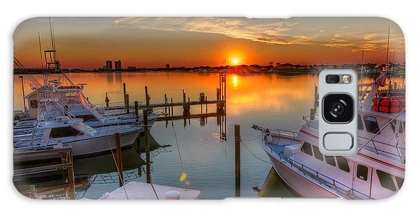 Sunset At The Marina Galaxy Case
