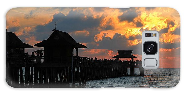 Sunset At The Naples Pier Galaxy Case