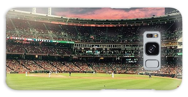 Nerd Galaxy Case - Sunset At A Reds Game by Erin Mintchell