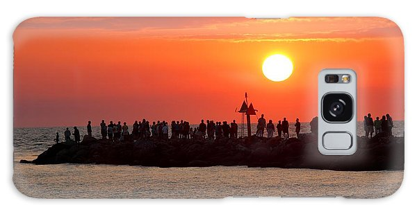 Sunset At The South Jetty, Venice, Florida, Usa Galaxy Case