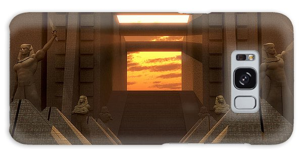 Sunset At The Temple Galaxy Case