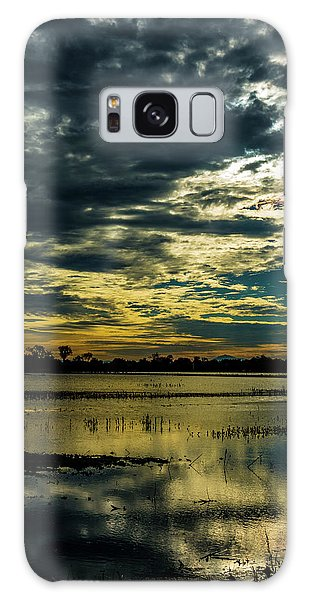 Sunset At The Wetlands Galaxy Case