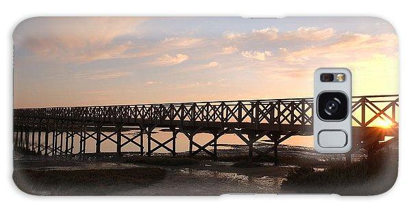Sunset At The Wooden Bridge Galaxy Case