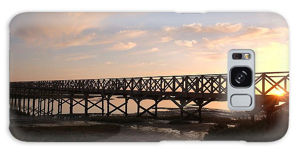 Sunset At The Wooden Bridge Galaxy Case