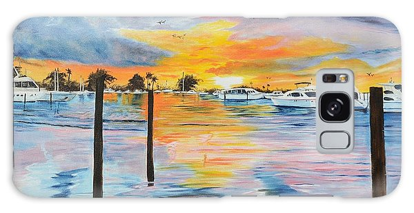 Sunset At The Yacht Club Galaxy Case
