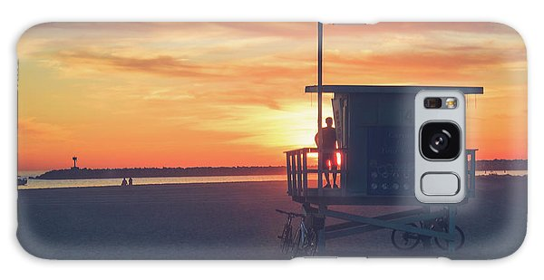 Sunset At Toes Beach Galaxy Case